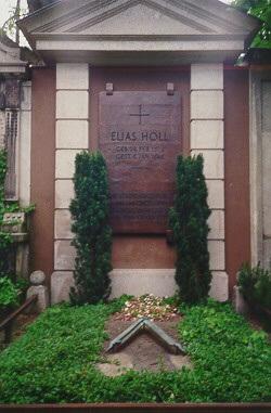 Foto vom Grab von Elias Holl auf dem Protestantischen Friedhof